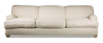 An upholstered canape
