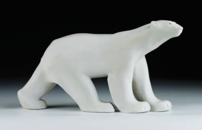 A biscuit porcelain polar Bear
