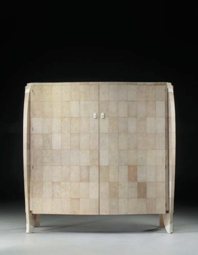 A large Shagreen and Ivory Cab