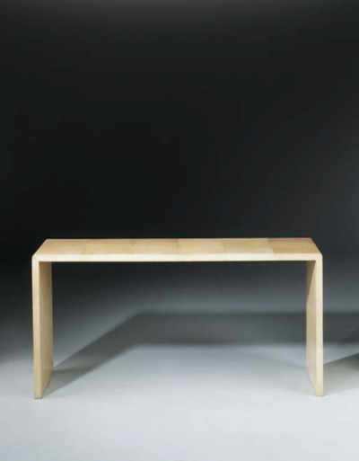 A Vellum occasional table