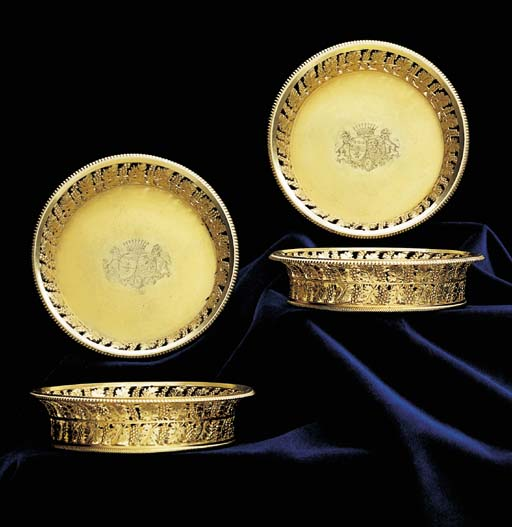 A set of four French Empire si