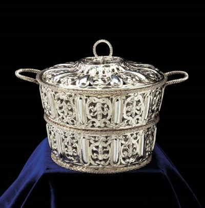 A Louis XIII basket and cover