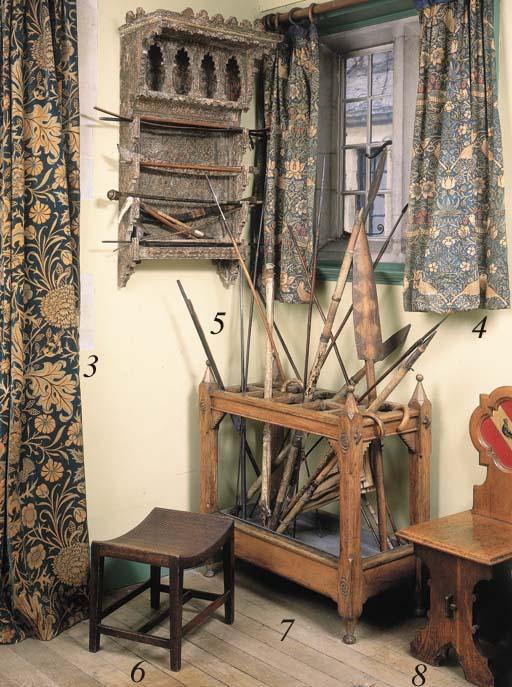 An early Victorian oak stick-s
