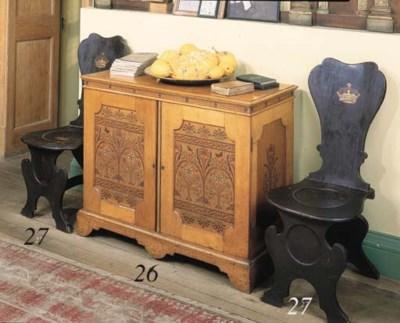 A set of three George II oak h