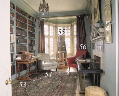 A mid-Victorian oak library ta