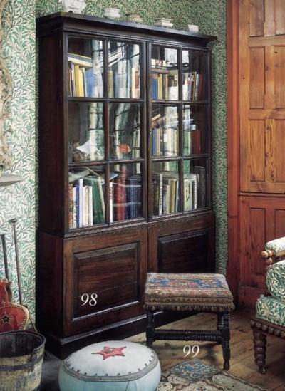 A George II oak bookcase