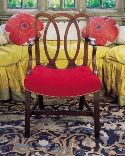 A set of six George II mahogan