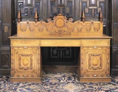 A George IV oak pedestal sideb