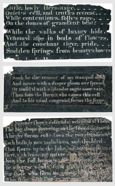 A set of three late George III