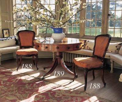 A set of six William IV mahoga