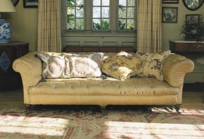A Victorian Chesterfield sofa