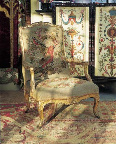An early Louis XV giltwood fau