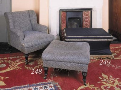 A George IV black-silk upholst
