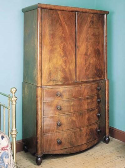 A William IV mahogany clothes-
