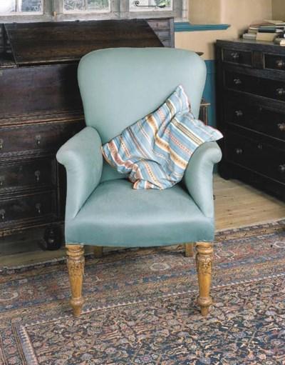 A William IV oak armchair