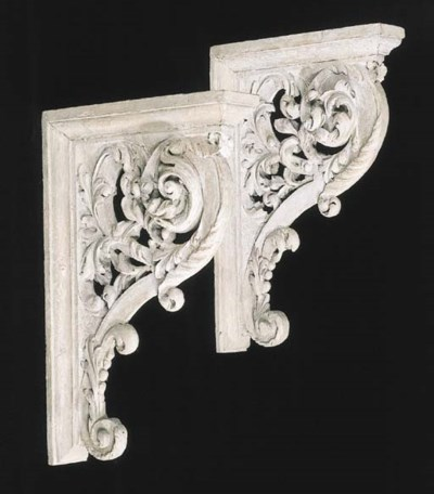 A pair of cream-painted and ca
