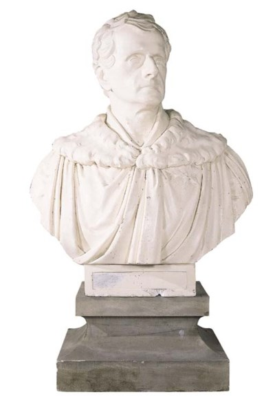 AN ENGLISH PLASTER BUST OF THE