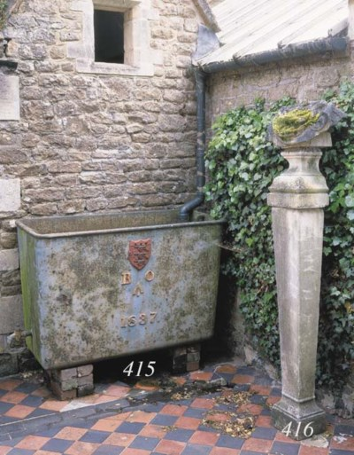 A William IV cast-iron cistern