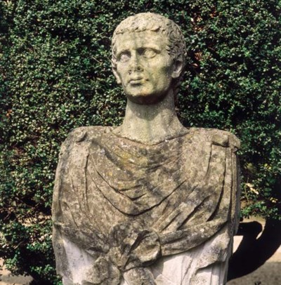 An English limestone bust with