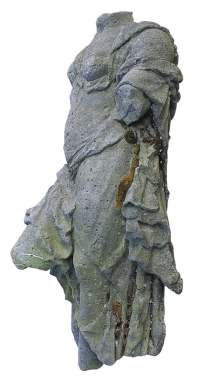 AN ENGLISH SCULPTED SANDSTONE