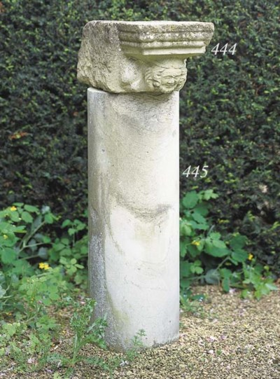 A sculpted stone corbel