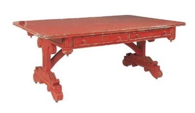 A William IV red-painted mahog