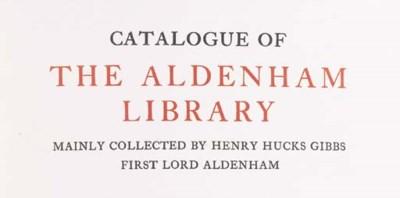 Catalogue of the Aldenham Libr