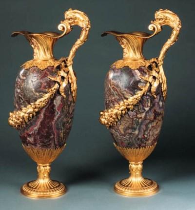 A pair of English ormolu-mount