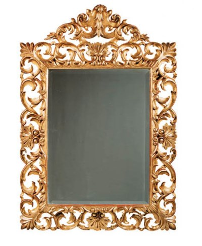 A Florentine giltwood mirror
