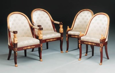 A set of four French ormolu-mo
