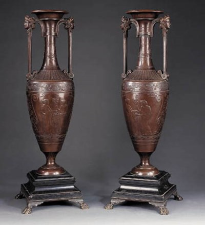 A pair of Napoleon III patinat