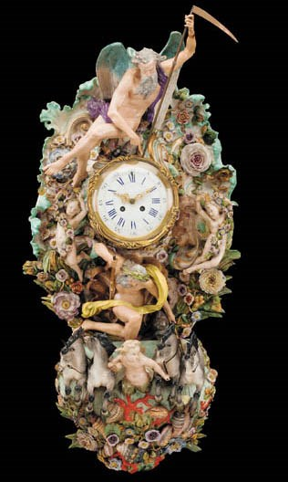 A Meissen wall clock