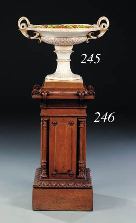 A French carved oak pedestal