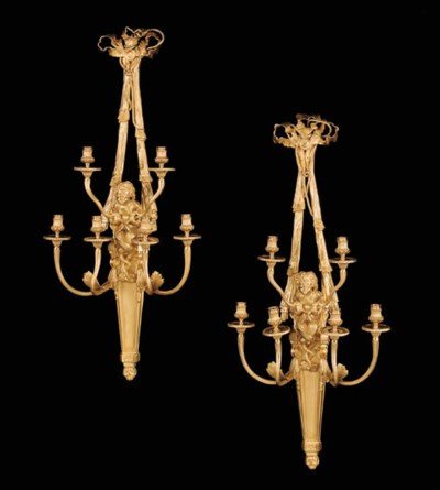 A pair of French gilt-bronze s