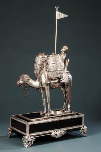 An Indian silvered-metal and h