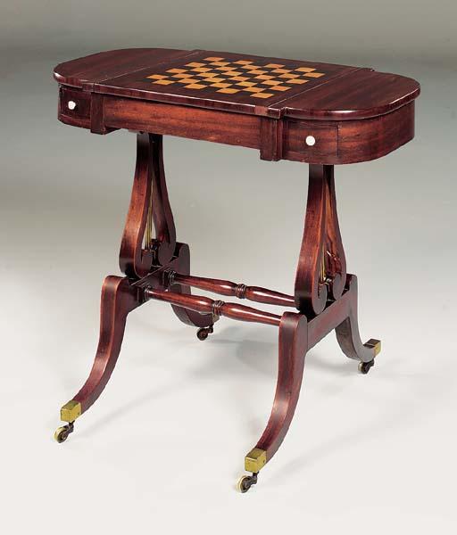 A REGENCY MAHOGANY GAMES-TABLE