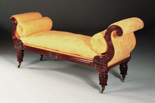 A WILLIAM IV MAHOGANY DAYBED