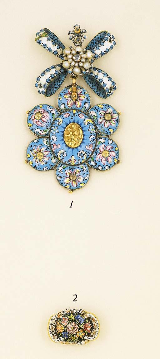 A 17th Century Enamel Devotional Pendant