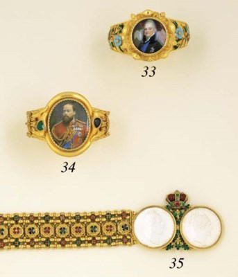 A William IV Enamel And Gem-Se