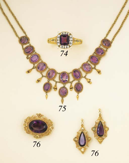An Antique Amethyst Necklace