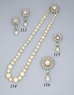 An Pair Of Antique Pearl And D