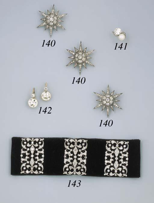 Three Antique Diamond Star Pen