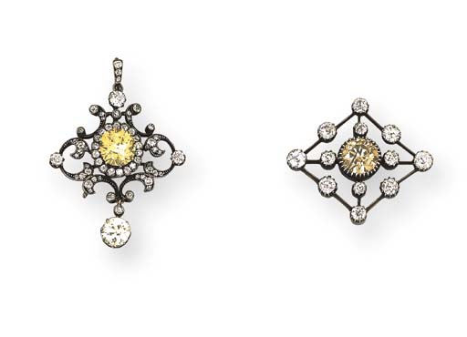 An Antique Diamond And Fancy I