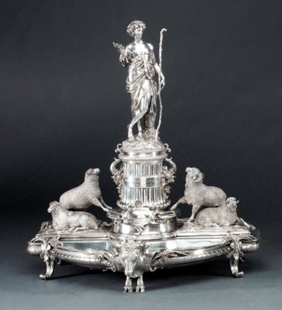 A FRENCH SILVER TROPHY