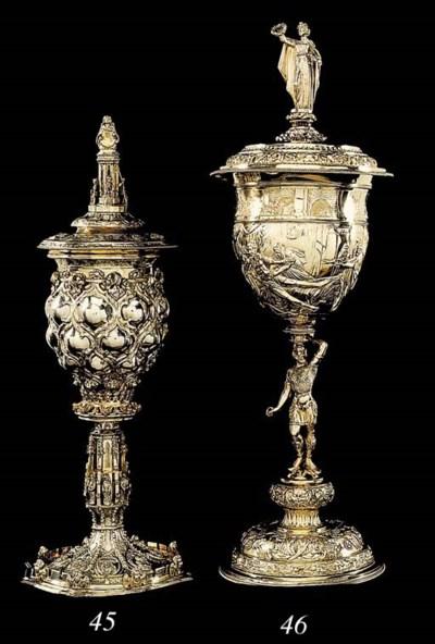 A Continental silver-gilt cup