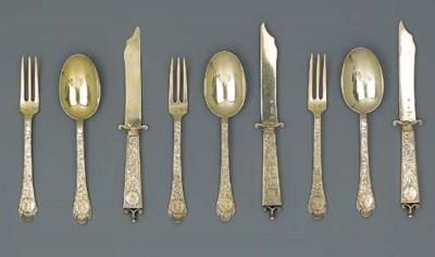 A Continental silver-gilt dess