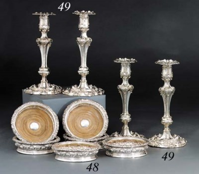 A set of six George IV silver