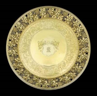 A George III silver-gilt tazza