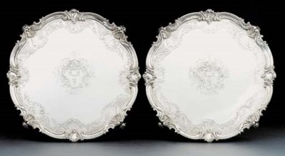 A pair of William IV silver sa