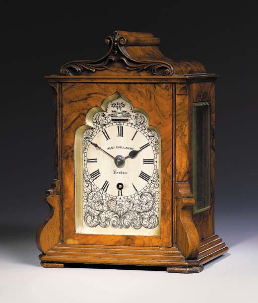 An early Victorian walnut mant
